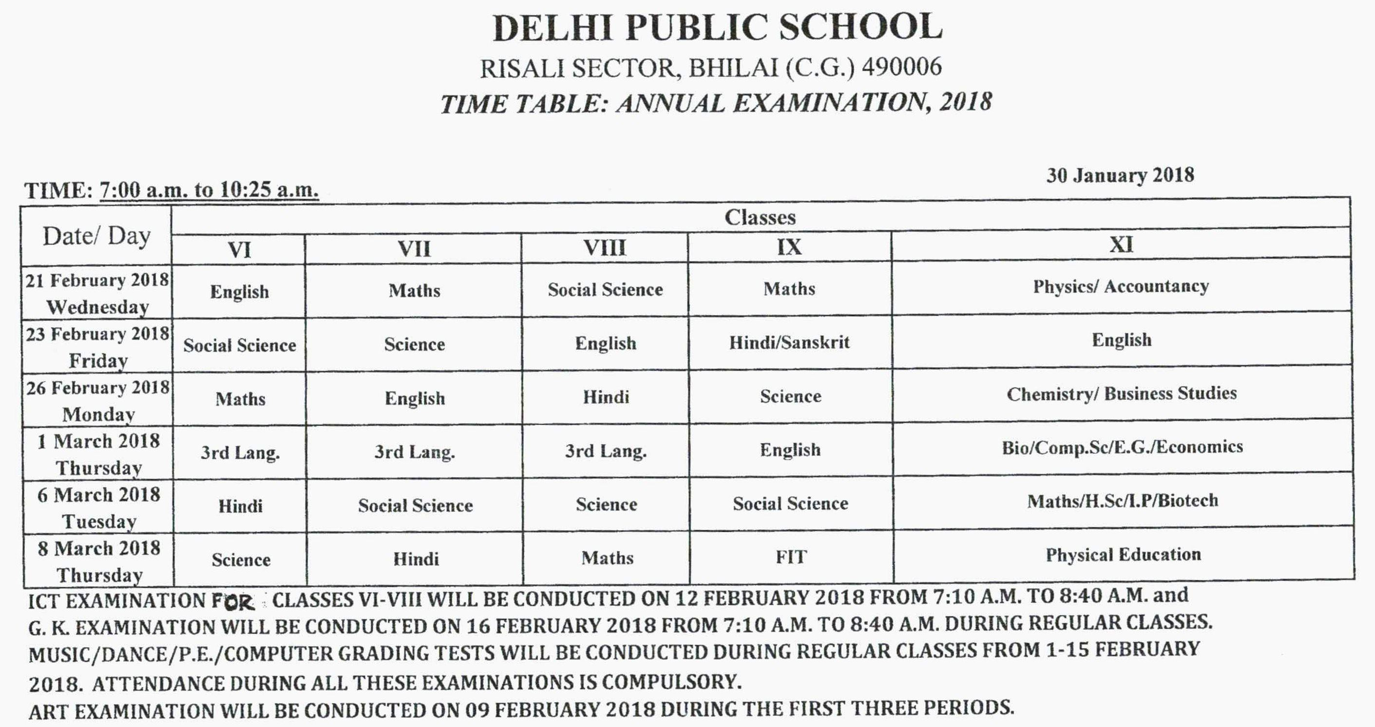 Exam corner class xii practical examination schedule malvernweather